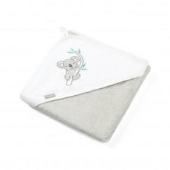 Бамбуковое банное полотенце с капюшоном-уголком 85 x 85 cм