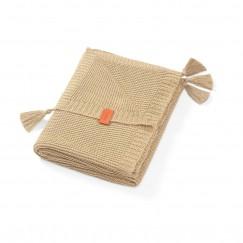 Одеяльце трикотажное бамбуковое с бахромой