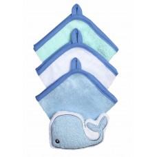 Набор 3 лицевых полотенца с губкой  FROTTE