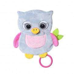 Обнимашка шуршалка для младенцев FLAT OWL CELESTE