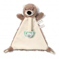 Мягкая игрушка с подвеской для соски OTTER MAGGIE