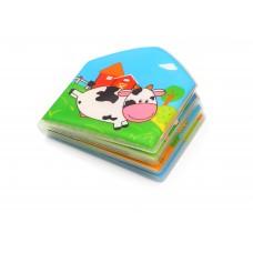 Книжка для ванной COUNTRY ANIMALS с пищалкой 15,5 x 16 см