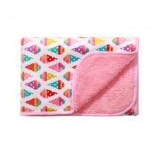 Одеяло из микрофибры двухстороннее - розовое 75х100см