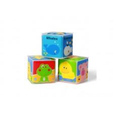 Мягкие кубики 3 штуки 5х5 см