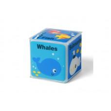 "Мягкий кубик ""Море"" - 1 штука. 7,5х7,5 см"