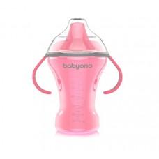 Кружка-непроливайка с твердым носиком 260 мл розовая. NATURAL NURSING