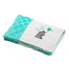 Мягкое одеяльце minky patchwork