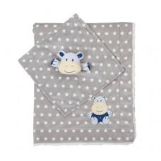 Одеяльце двухстороннее «minky» с первой обнимашкой