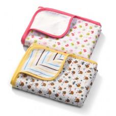 Двухстороннее фланелевое одеяло 75см*100см.