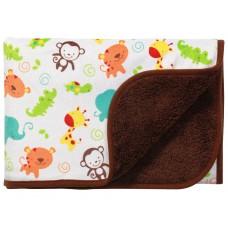 Одеяло из микрофибры двухстороннее - коричневое 75х100см