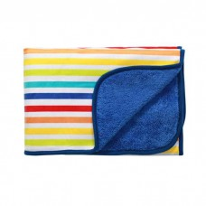 Одеяло из микрофибры двухстороннее -синее 75х100см