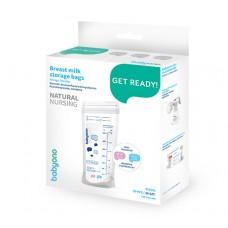 Пакеты для заморозки грудного молока с индикатором температуры 20 шт. 350 мл.  Natural Nursing