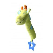 """Игрушка-пищалка с прорезывателем """"Жираф"""""""