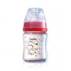 бутылочка Стекло 120 мл - розовая (широкая соска от 0 мес)