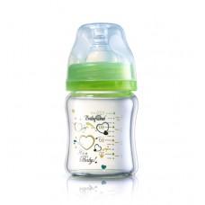 бутылочка Стекло 120 мл - зелёная (широкая соска от 0 мес)